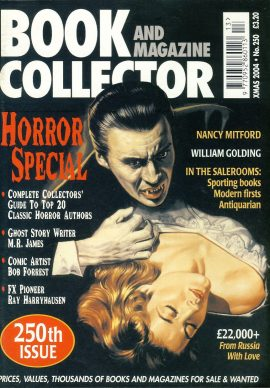 Book & Magazine Collector #250 Xmas 2004 HORROR SPECIALref101445 Very Good Condition. This listing is for the Magazine ONLY. Sorry no extras