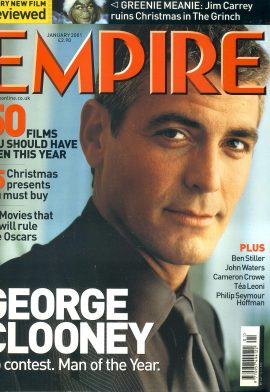 EMPIRE magazine January 2001 George Clooney ref10089 Pre-owned in very good clean condition. Please see larger photo and full description for details.