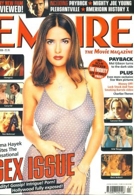 EMPIRE magazine April 1999 SEX ISSUE Salma Hayek ref10092 Pre-owned in very good clean condition. Please see larger photo and full description for details.