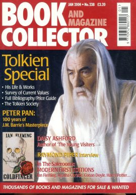 Book & Magazine Collector #238 Jan 2004 TOLKIEN SPECIAL Peter Pan DAISY ASHFORD Raymond Piper interview ref101451 Very Good Condition. This listing is for the Magazine ONLY. Sorry no extras