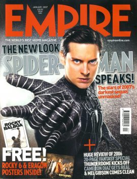 EMPIRE magazine January 2007 Spider Man ref10095 Pre-owned in very good clean condition. Please see larger photo and full description for details.