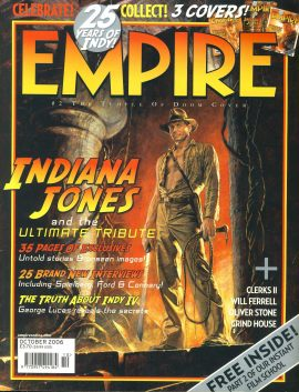 EMPIRE magazine October 2006 INDIANA JONES ref10097 Pre-owned in very good clean condition. Please see larger photo and full description for details.