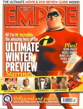 EMPIRE magazine December 2004 The Incredibles ref10099 Pre-owned in very good clean condition. Please see larger photo and full description for details.