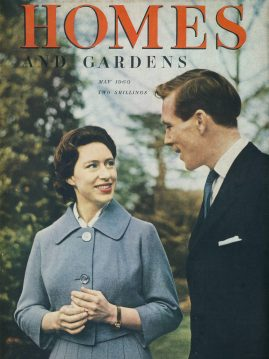 Homes & Gardens May 1960 vintage magazine PRINCESS MARGARET ENGAGEMENT to Antony Armstrong-Jones ref101349 This vintage magazine is in Very Good Condition for age. Has some great vintage adverts in black and white & some colour  Please read the full description and see photo. This listing is for the Magazine ONLY. Sorry no extras