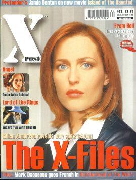 X POSE #63 2002 Gillian Anderson