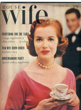 HOUSEWIFE November 1955 vintage magazine ref101351 This vintage magazine is in Good Condition for age. Marks on cover. Has some great vintage adverts in black and white & some colour  Please read the full description and see photo. This listing is for the Magazine ONLY. Sorry no extras