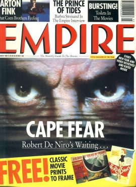 EMPIRE magazine March 1992 CAPE FEAR - with prints ref10104 Pre-owned in very good clean condition. Please see larger photo and full description for details.