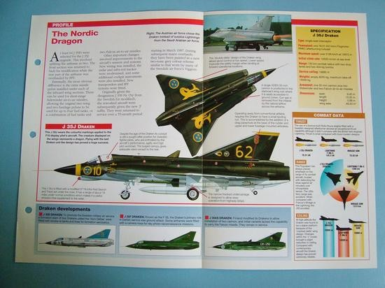Modern Combat Aircraft of the World Card 101 SAAB J 35J Draken