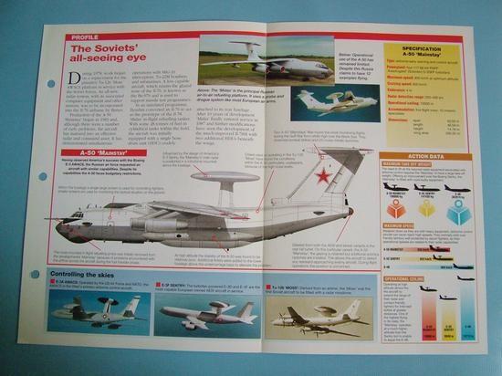 Modern Combat Aircraft of the World Card 105 IlyushinBeriev IL 78 Midas  A 50