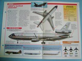 Modern Combat Aircraft of the World Card 106 McDonnell Douglas KC 10 Extender