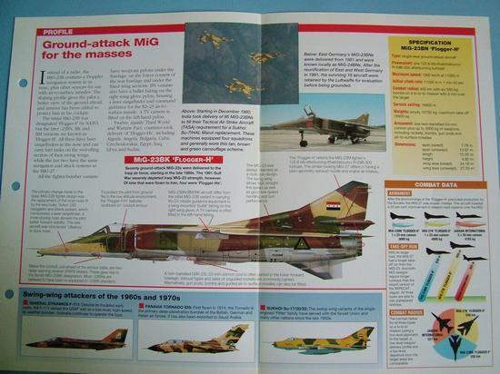 Modern Combat Aircraft of the World Card 107 Mikoyan Gurevich MiG 23BN Flogger