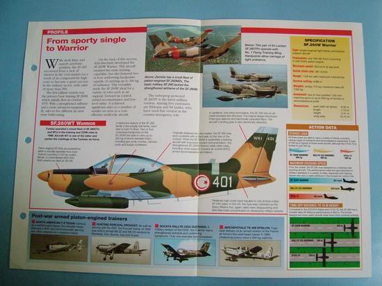 Modern Combat Aircraft of the World Card 109 SIAI Marchetti SF260