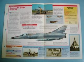 Modern Combat Aircraft of the World Card 110 Dassault Breguet Mirage III550