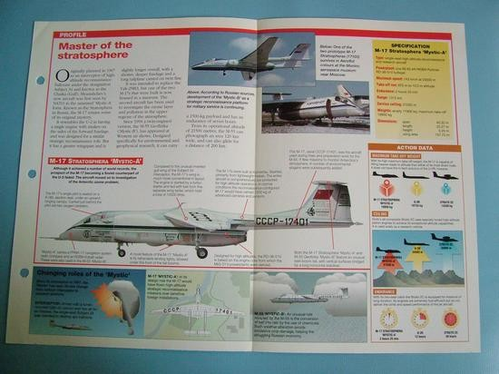 Modern Combat Aircraft of the World Card 113 Myasishchev M 17M 55 MYSTIC