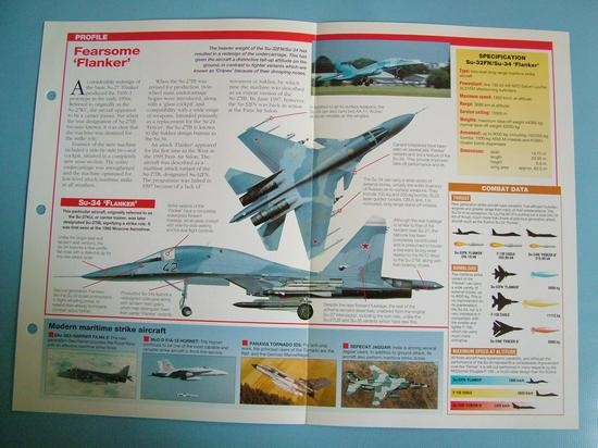 Modern Combat Aircraft of the World Card 114 Sukhoi Su 34 Flanker