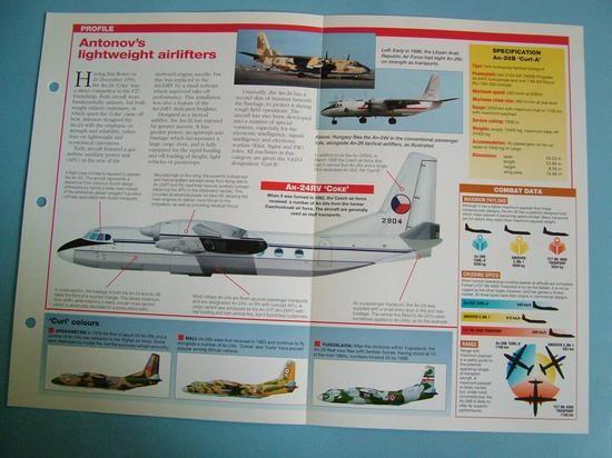 Modern Combat Aircraft of the World Card 115 Antonov AN 24 Coke  AN 26 Curl