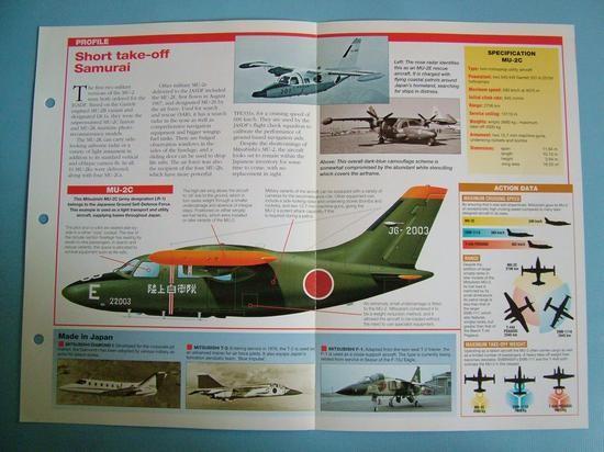 Modern Combat Aircraft of the World Card 116 Mitsubishi MU 2