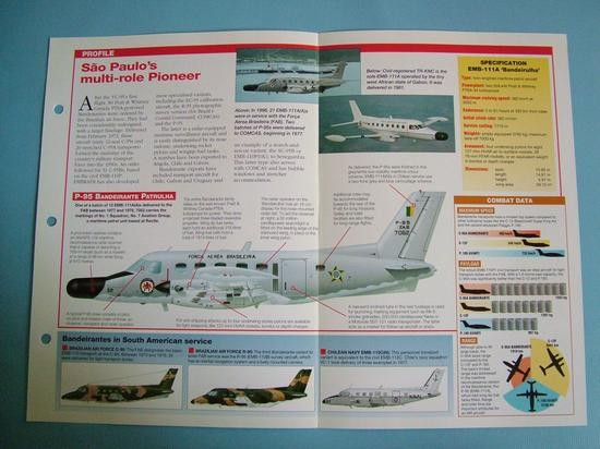 Modern Combat Aircraft of the World Card 117 Embraer EMB 110111 Bandeirante