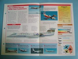 Modern Combat Aircraft of the World Card 119 Gates Learjet Series VIP transport