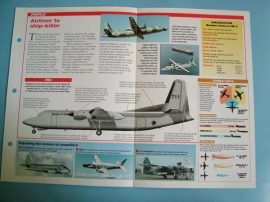 Modern Combat Aircraft of the World Card 120 Fokker F50