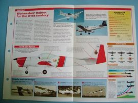 Modern Combat Aircraft of the World Card 123 Slingsby T67T 3A Firefly