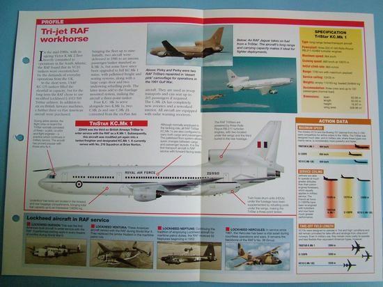 Modern Combat Aircraft of the World Card 124 Lockheed TriStar RAF TankerTranspo
