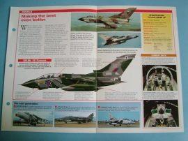 Modern Combat Aircraft of the World Card 125 Panavia Tornado GRMk 1BGRMk 4
