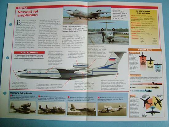 Modern Combat Aircraft of the World Card 126 Beriev A 40 Albatross amphibian