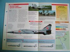 Modern Combat Aircraft of the World Card 128 Mikoyan Gurevich MiG 25R FOXBAT