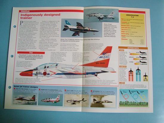 Modern Combat Aircraft of the World Card 129 Kawasaki T 4 Jet Trainer