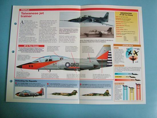 Modern Combat Aircraft of the World Card 130 AIDC AT 3 TSU CHIANG Taiwan 1st jet