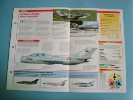 Modern Combat Aircraft of the World Card 132 Shenyang J 6 Farmer MiG 19 copy