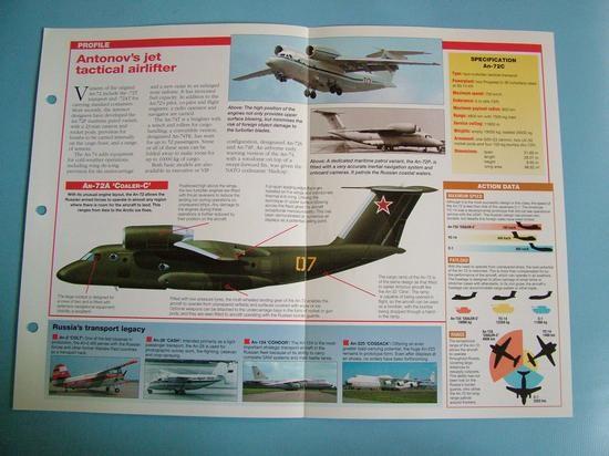Modern Combat Aircraft of the World Card 133 Antonov AN 72 Coaler