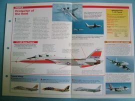 Modern Combat Aircraft of the World Card 136 Grumman F 14D Tomcat