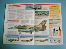 Modern Combat Aircraft of the World Card 142 Lockheed Martin F 16 Israel