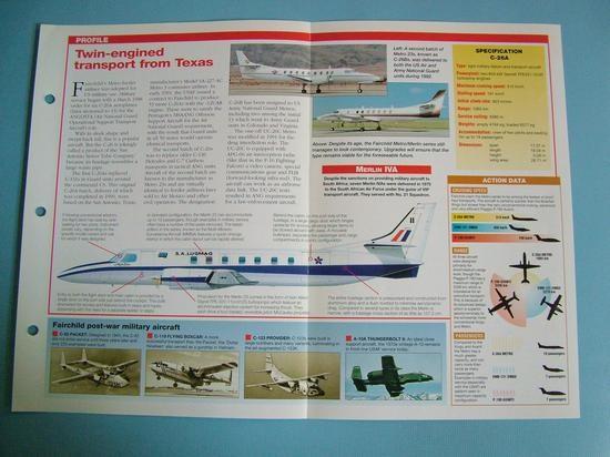 Modern Combat Aircraft of the World Card 143 Fairchild C 26 USAF light transport