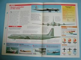 Modern Combat Aircraft of the World Card 44 Ilyushin IL 38 May sub hunter
