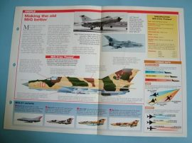 Modern Combat Aircraft of the World Card 47 Mikoyan Gurevich MiG 21BIS Fishbed
