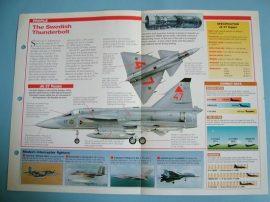 Modern Combat Aircraft of the World Card 50 SAAB JA 37 Viggen Interceptor