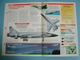 Modern Combat Aircraft of the World Card 53 Mikoyan MiG 31 Foxhound