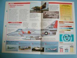 Modern Combat Aircraft of the World Card 56 McDonnell Douglas A 4 Skyhawk II