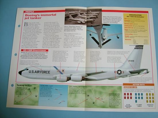 Modern Combat Aircraft of the World Card 58 Boeing KC 135 Stratotanker USAF