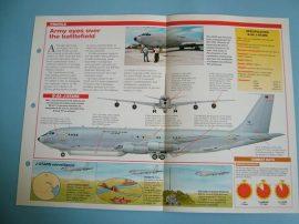 Modern Combat Aircraft of the World Card 59 BoeingGrumman E 8 J Stars