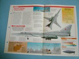 Modern Combat Aircraft of the World Card 60 Tupolev Tu 22M Backfire bomber