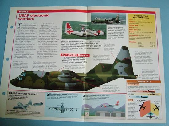 Modern Combat Aircraft of the World Card 65 Lockheed EC 130 electronic warfare