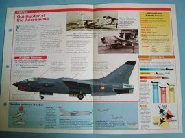 Modern Combat Aircraft of the World Card 69 Vought F 8EFN Crusader