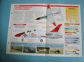 Modern Combat Aircraft of the World Card 72 McDonnell Douglas T 45 Goshawk