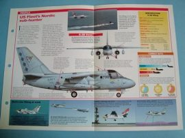 Modern Combat Aircraft of the World Card 73 Lockheed SES 3 Viking twin jet