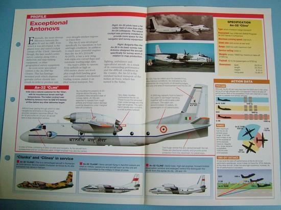 Modern Combat Aircraft of the World Card 75 Anotnov AN 30 ClankAN 32 Cline