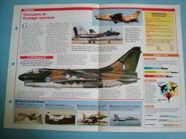 Modern Combat Aircraft of the World Card 78 Vought A 7 Corsair II Export